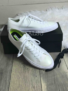 free shipping 7bf9a 73ccc Details about Sneakers Men's Converse Chuck Taylor X Nike Flyknit White Low  Top Lunarlon
