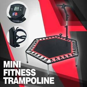 "53"" Mini Trampoline Jogger Home Gym Elastic SET Fitness Cardio Exercise"