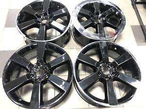 20 Ford F 150 Xlt Sport Truck Black Chrome Wheels Rims Factory Oem Set 4 10005 Ebay