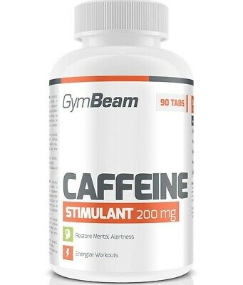 90 X 200mg 100% Caffeine Tablets Energy Diet Weight Loss Slimming Pills Gymbeam Fortalecimiento De Los Tendones Y Los Huesos