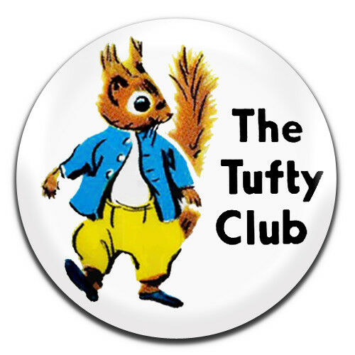 1 Inch D Pin Button Badge The Tufty Club Kids Road Safety Retro TV 25mm