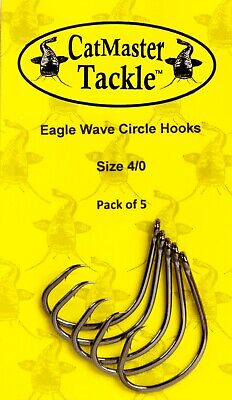 CatMaster Tackle Eagle Wave Barbless Hook Size 1//0