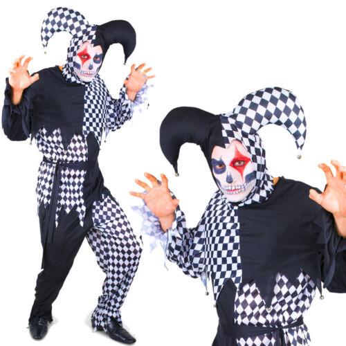 Karnival Halloween Mens Evil Harlequin Costume