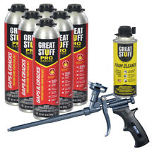 Dow Great Stuff Pro Gaps And Cracks 30 Oz Cans 6 Ptfe Pro Foam Gun Cleaner