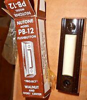Nutone Push Button Door Bell Pb-12 Walnut Buy From Me