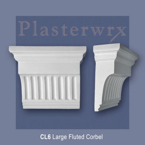 CL6 plasterwrx qualité supérieure Gros cannelés en plâtre Corbel