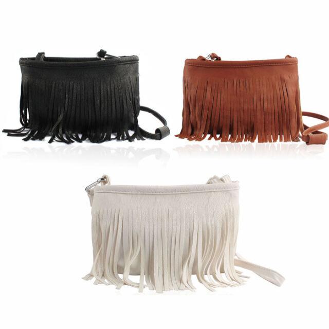 Hot Tassel Shoulder Messenger Clutch Baguette Handbag Women Satchel free-ship