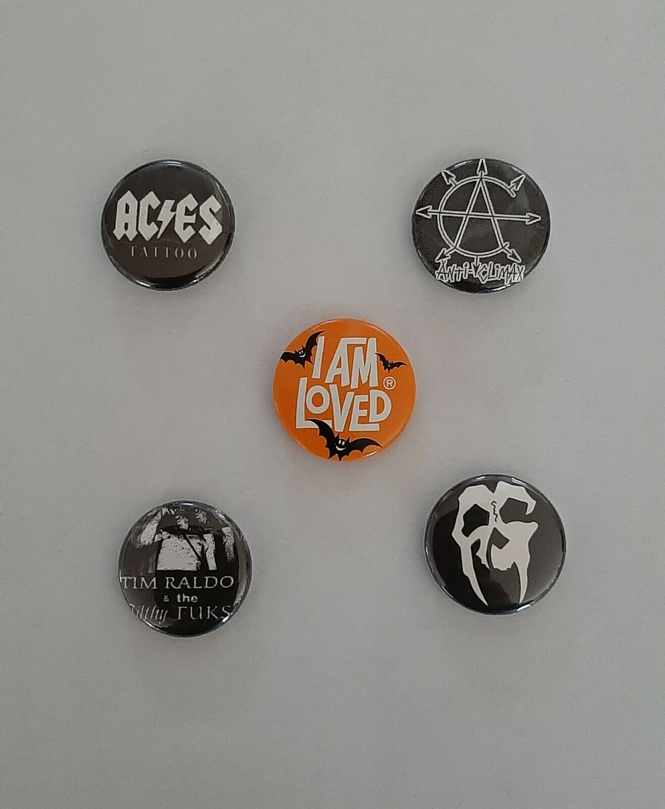 TIM RALDO & THE TILTHY FUKS AND OTHERS PINS