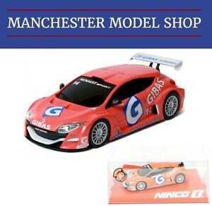 Ninco-55097-1-32-Renault-Megane-Trophy-Gibas-14-2009-With-Lights-NEW-BOXED