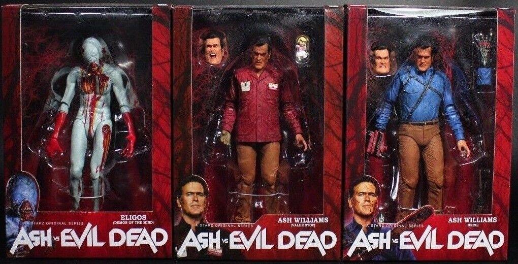 Ash vs Evil Dead Bruce Campbell Value Stop & Hero and Eligos Acción Figura NECA