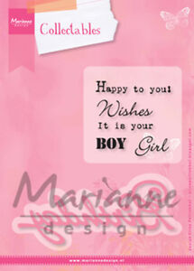 Marianne-Design-Collectables-Dies-and-Stamp-Set-Birthday-COL1349-NIP