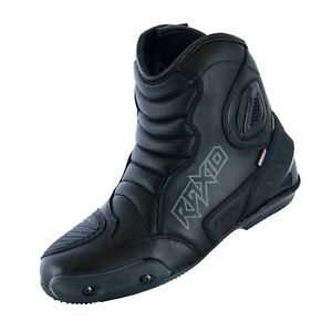 REAL-LEATHER-HIGH-TECH-MENS-MOTORCYCLE-MOTORBIKE-RACING-SHORT-SPORTS-BOOTS-SHOES