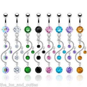 Vine-Dangle-Gem-Belly-Ring-Navel-Naval-14g-Body-Jewelry