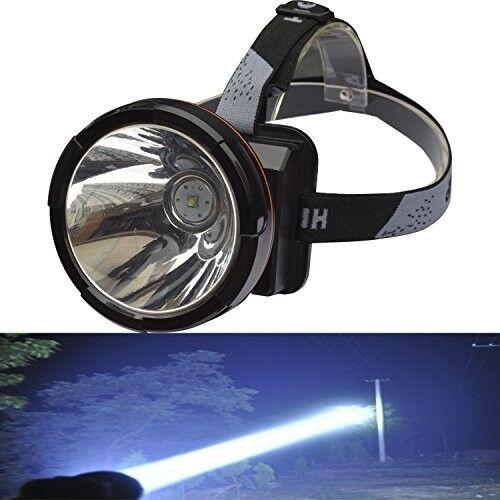 Headlamp Rechargeable Large LED Spotlight Battery Powered Headlight Helmet Light