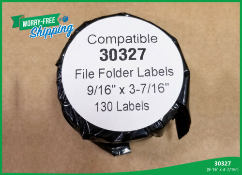 Labels 30327 Dymo LabelWriters Compatible 4 Rolls White File Folder Pal