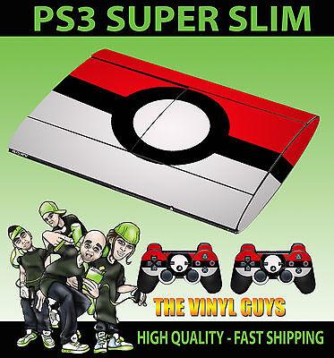 2 X Pad Faceplates, Decals & Stickers Intellective Playstation Ps3 Super Slim Pokeball Pokémon Go Pegatina De Cubierta
