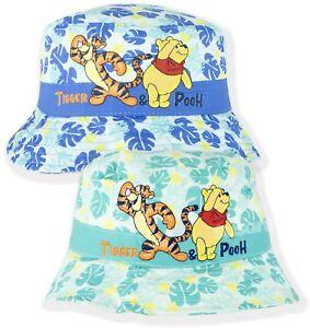 32fadd2b6f6 Disney Winnie The Pooh Baby Boys Bucket Hat Summer Sun Hats Caps 0-3 ...