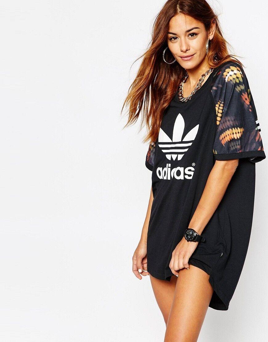 check out first rate best authentic Женское платье Adidas Originals Rita Ora Cut Out Schwarz T-Shirt Kleid Gre  UK 16 NEU (519)