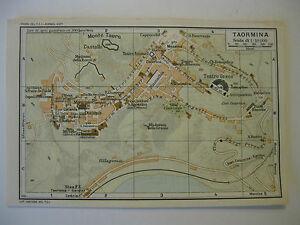 Stampa Cartina Sicilia.Stampa Antica Mappa Pianta Carta Topografica Sicilia Taormina 1940 C Ebay