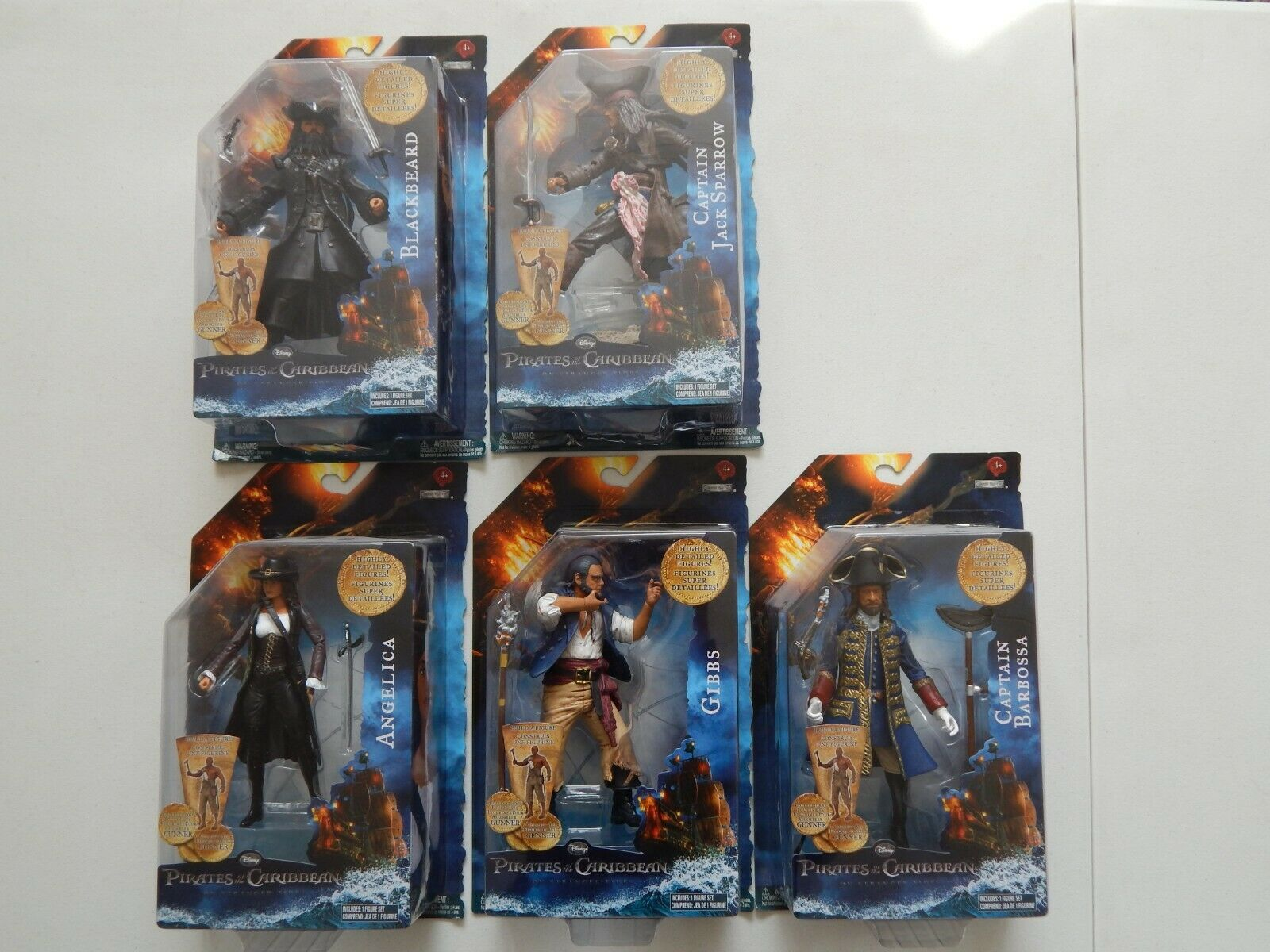 Pirates of the the the Caribbean Compete 7  Figure Collection Lot 2011 Jakks Pacific b336ac