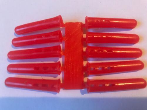 20 X Rouge Mur Bouchons Brique Maçonnerie Béton RAWL Plugs 5.5-6.0mm Fast /& Free del