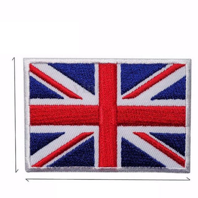 UK Flag Embroidered Iron/Sew On Patch United Kingdom Badge Transfer 7x4.5cm LJ