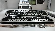Land Rover Defender Heritage OEM Cast Station Wagon Badge Solihull 332670 306407