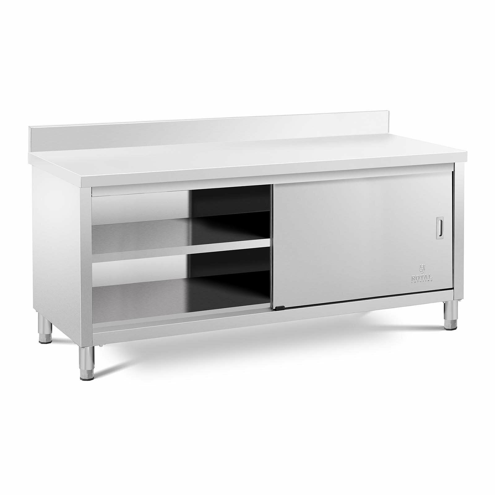 Mueble Neutro de Cocina en Acero Inoxidable 200 x 70 cm Mesa Acero Inoxidable