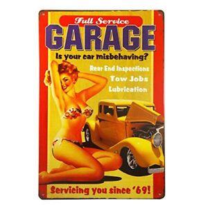 Full-Service-Garage-Metal-Tin-Sign-8-034-x-12-034