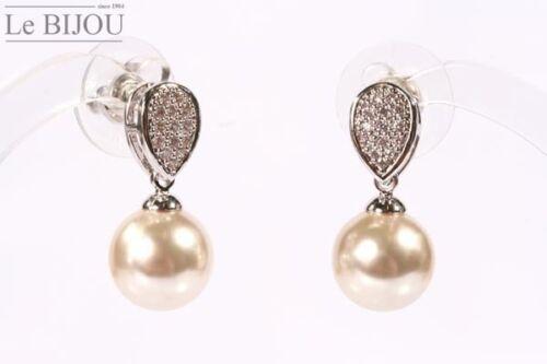 Le Bijou Ohrhänger Perle und Zirkonia-Kristalle