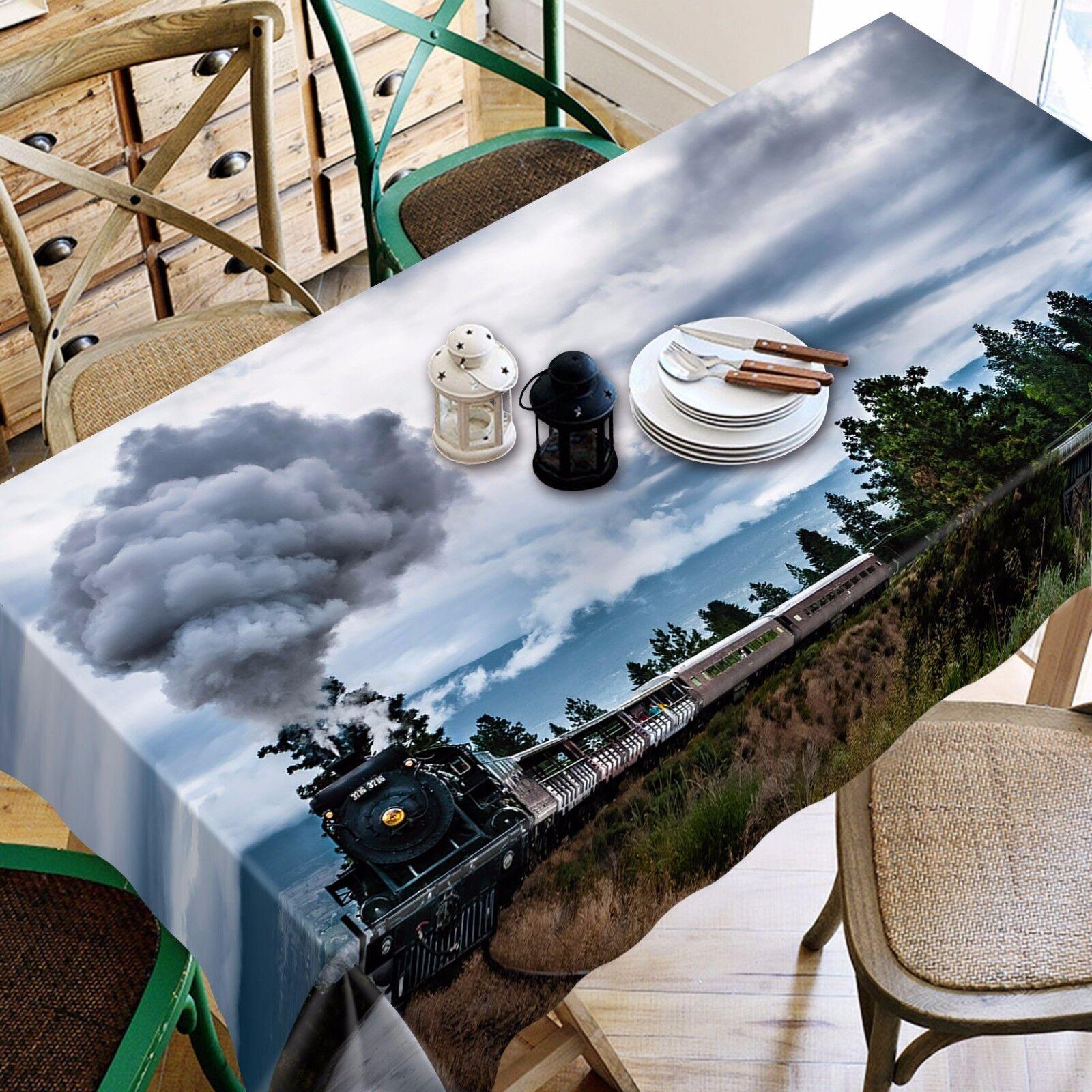 3D Smoke Tablecloth Table Cover Cover Cover Cloth Birthday Party AJ WALLPAPER UK Lemon 6ae42e