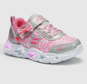 Toddler-Girls-039-S-Sport-by-Skechers-Olyvia-Light-Up-Sneakers-Pink-Size-11
