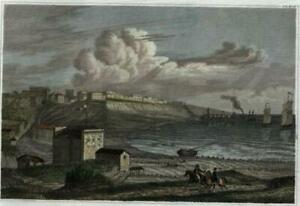 Odessa-Ukraine-c-1850-Meyer-engraved-birds-eye-view-print-lovely-hand-color