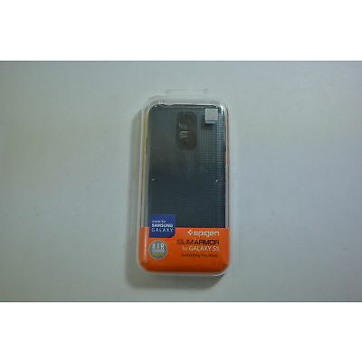 New OEM Spigen Slim Armor Metal Slate Case For Samsung Galaxy S5