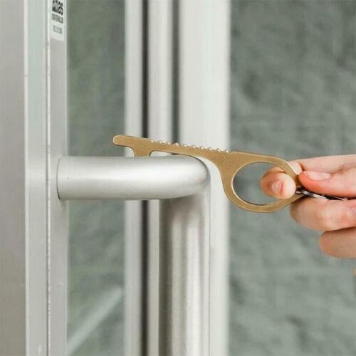 Türöffner Türhaken kontaktloser antimikrobieller Hygienehaken Schlüsselring Neu