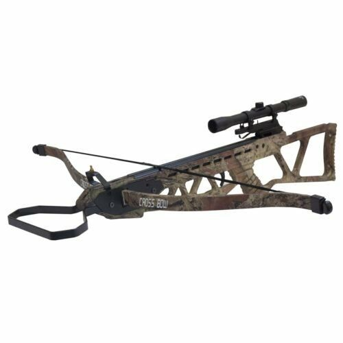 Wizard Archery 120lbs Hunting Crossbow Package with 4x20 Scope and 7 x Arrows