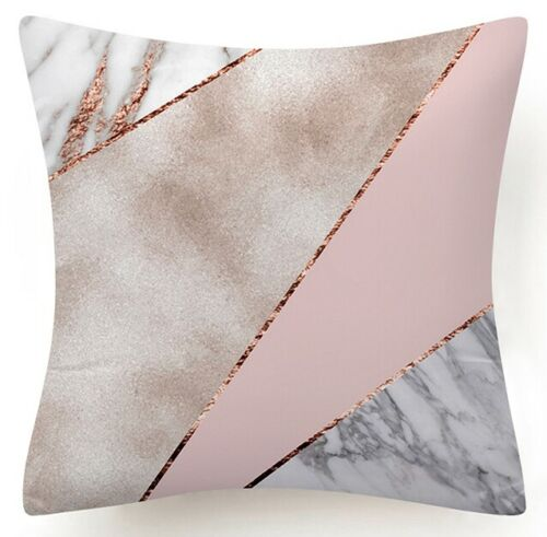Golden Rose Pink Throw PILLOW COVER Decorative White 2-Sided Cushion Case 18x18/""