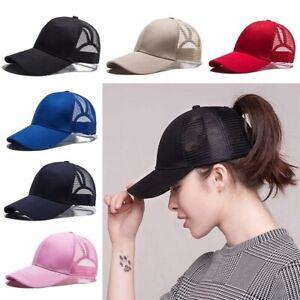 SummerBaseball-Cap-for-Women-Mesh-Visor-Womens-Girls-Hat-Ponytail-Hat-Adjustable