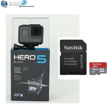 NEUF GOPRO HD HERO 5 HERO5 BLACK EDITION ACTION CAMERA + 32GB MICRO SD CARD