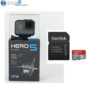 NEUF-GOPRO-HD-HERO-5-HERO5-BLACK-EDITION-ACTION-CAMERA-32GB-MICRO-SD-CARD