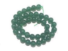 "15.5"" Natural GREEN Aventurine Round ~40 Beads 10mm K5804"