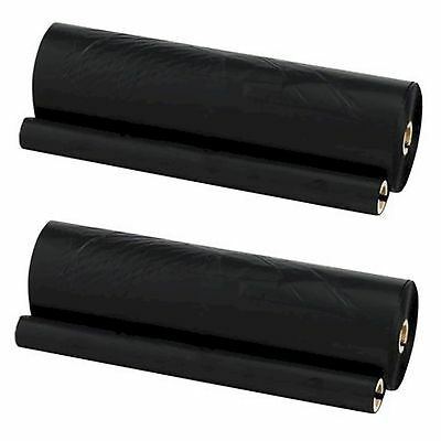KX-FA52X PANASONIC COMPATIBLE BLACK FAX ROLL TWIN PACK UK SELLER