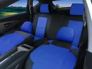 Remarkable Details About Full Set Auto Car Seat Covers Fit 40 60 Or 60 40 Rear Split Bench Seats Bk Blue Dailytribune Chair Design For Home Dailytribuneorg