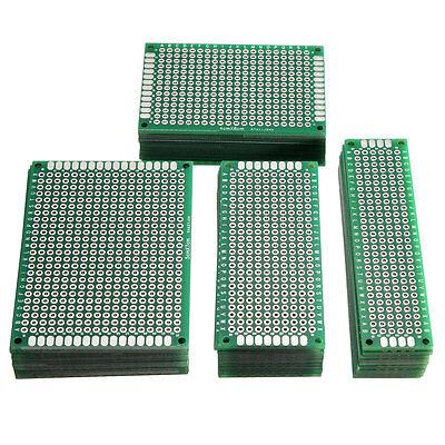 40x Lochraster Leiterplatte Streifenraster Platine PCB Board 2x8 3x7 4x6 5x7cm
