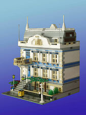 LEGO MOC Custom Modular Republic Avenue Mansion House instructions 10243-10218