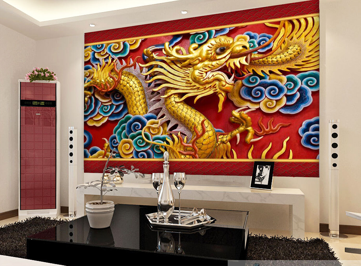 3D Pretty Flying Dragon 1926 Paper Wall Print Wall Decal Wall Deco Indoor Murals