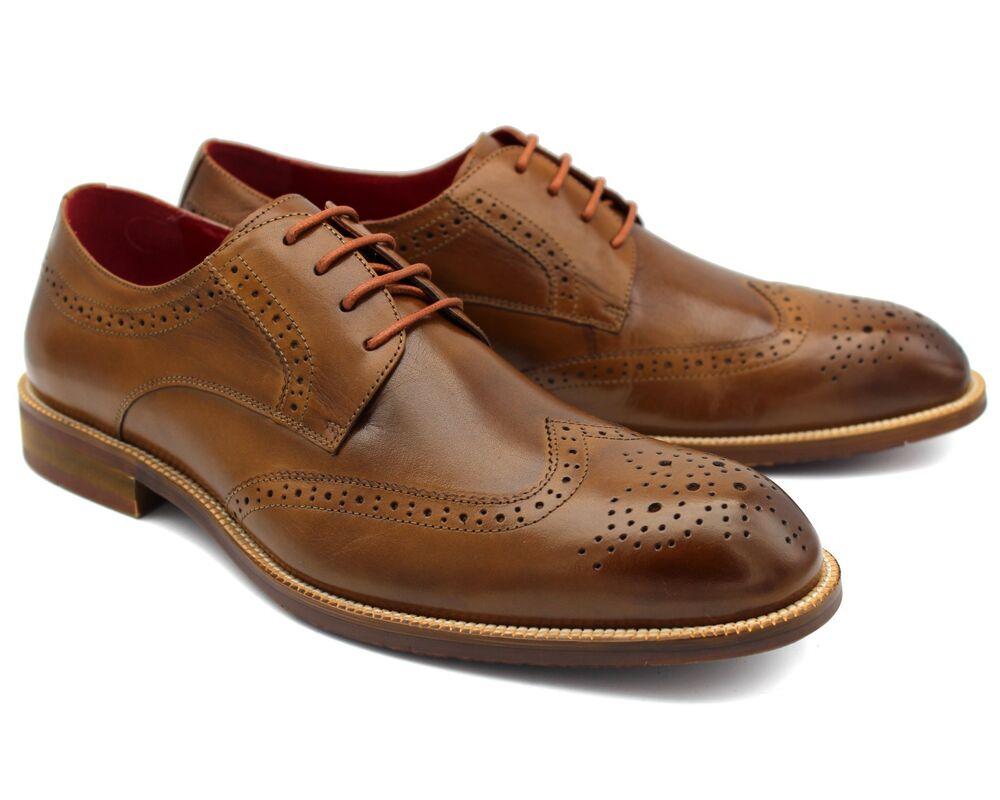 * 313 Uk 8 Homme Neuf Marron Richelieu à Chaussures à Lacets En Cuir Véritable Smart Décontracté Eu 42