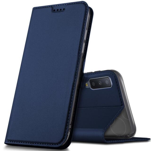 Handy Hülle Samsung Galaxy A7 2018 Book Case Schutzhülle Tasche Slim Flip Cover