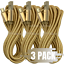 3-Pack-10Ft-Braided-Micro-USB-Phone-Charger-Charging-Cable-Data-Cord-For-Samsung miniature 1