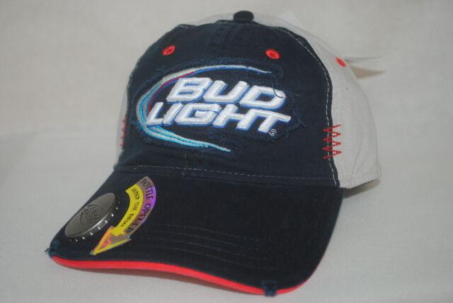 Ball Cap Bud Light Hat With Bottle Opener Beer Official Anheuser Busch Made  EUC
